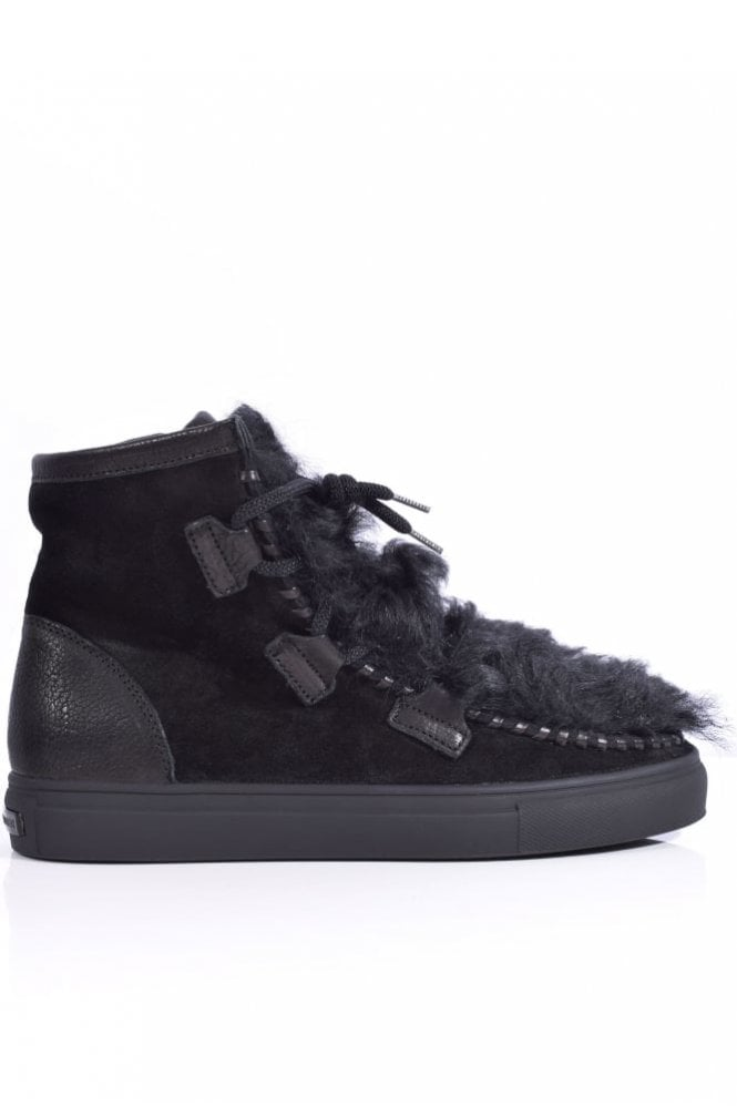 Kennel und Schmenger Basket Suede and Lambswool Boot in Black