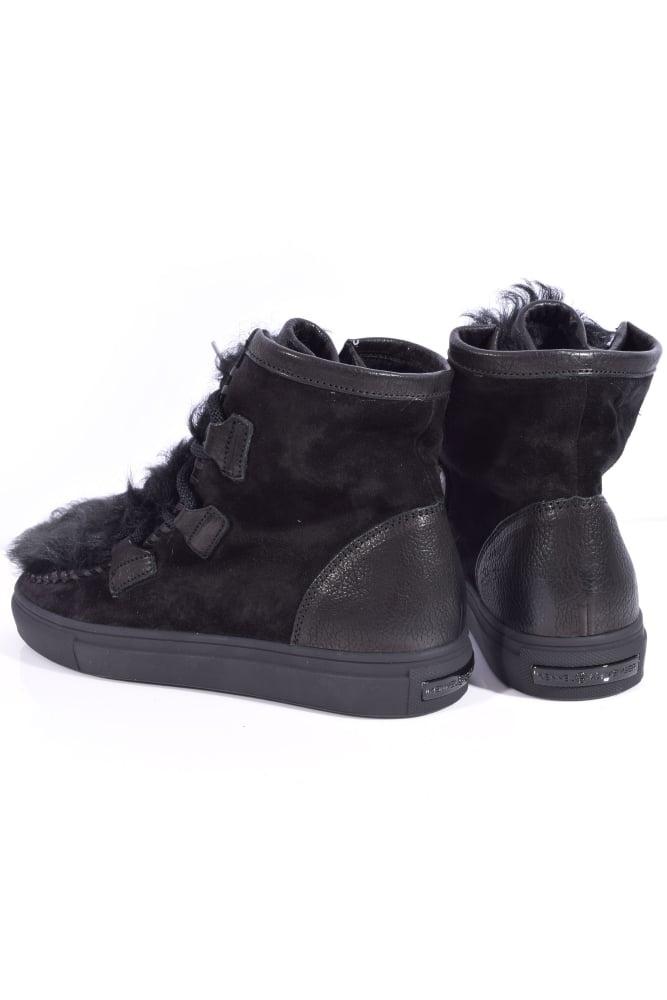 kennel und schmenger basket suede and lambswool boot in black. Black Bedroom Furniture Sets. Home Design Ideas