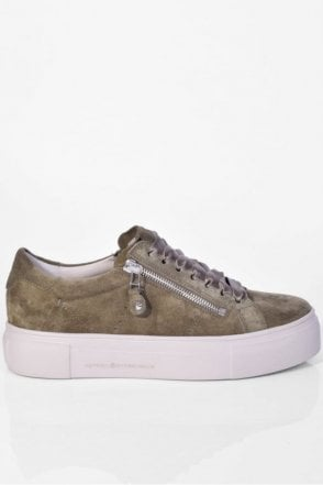 Big Suede Trainer in Sage