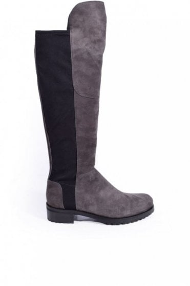 Blues Over the Knee Boot in Grey