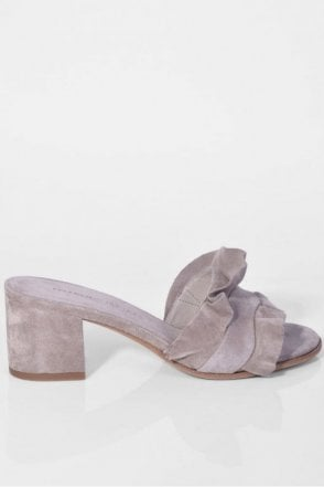 Inga Suede Mule in Shadow