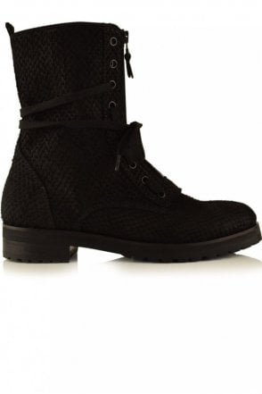 Joe Viper Biker Boot in Black