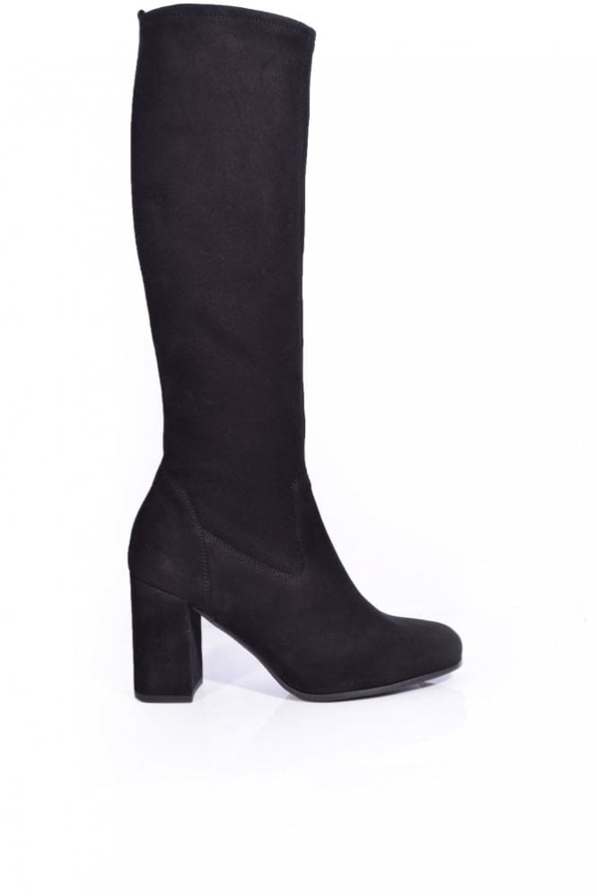 Kennel und Schmenger Karen Suede Stretch Heeled Boot in Black