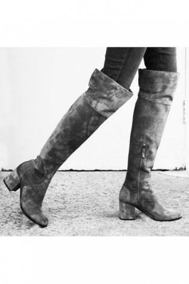 Kiko Block Heel Over the Knee Suede Boot in Tundra