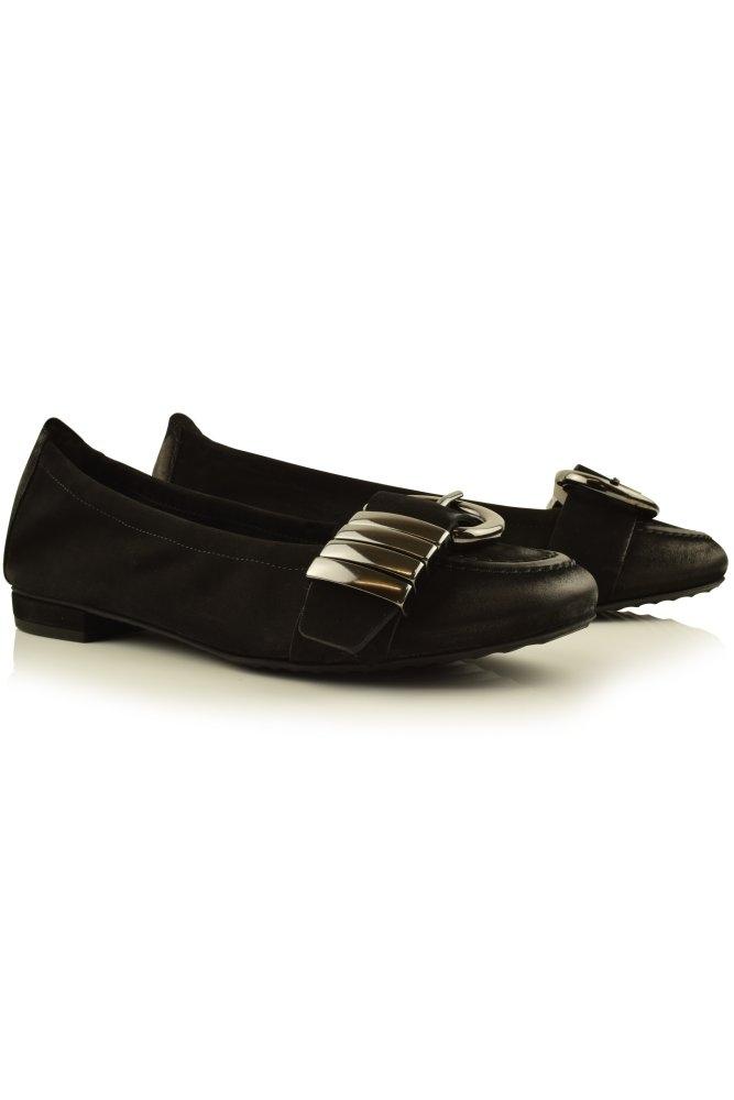 kennel und schmenger malu suede ballerina pump buckle. Black Bedroom Furniture Sets. Home Design Ideas
