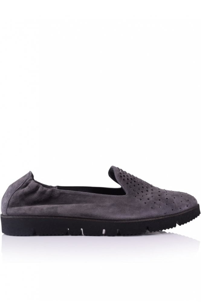 Kennel und Schmenger Pia X Beaded Front Slip On in Steel