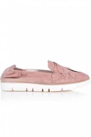 Pia X Leaf Detail Slip On in Pink