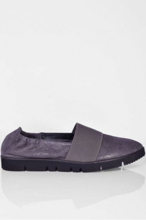 Pia X Point Toe Slip on in Asphalt
