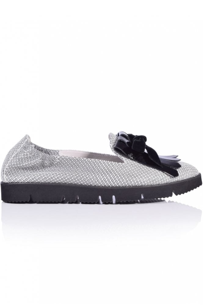 Kennel und Schmenger Pia X Printed Slip On in Black and White