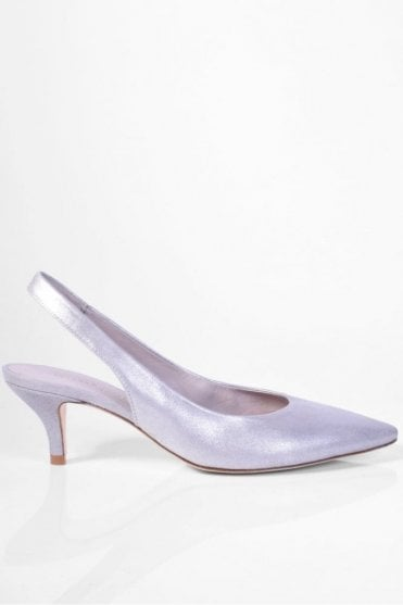 Selma Slingback in Silver