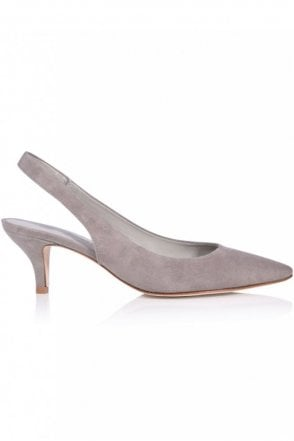 Selma Suede Kitten Heel in Ghost