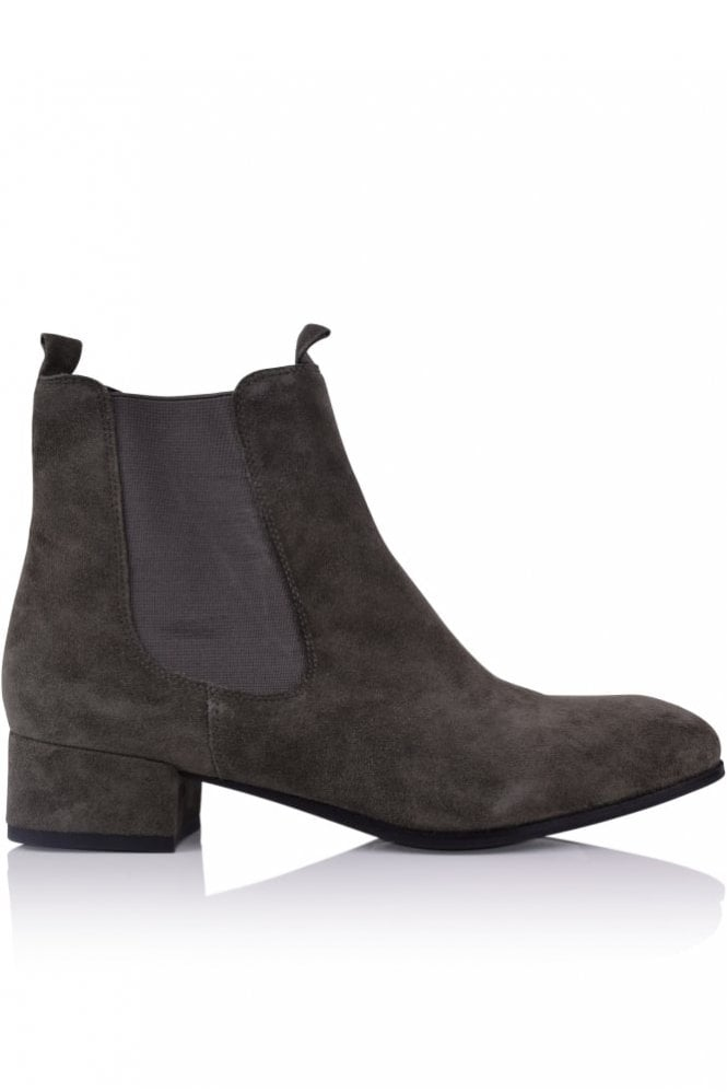 Kennel und Schmenger Tessa Block Heel Ankle Boot in Smoke
