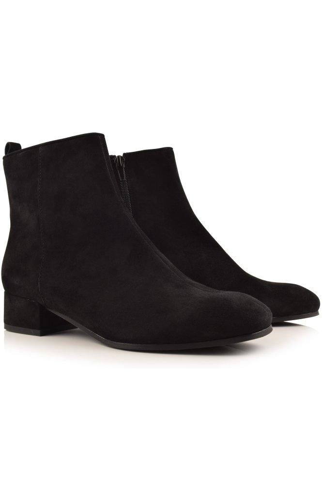 kennel und schmenger tessa block heel suede ankle boot in. Black Bedroom Furniture Sets. Home Design Ideas
