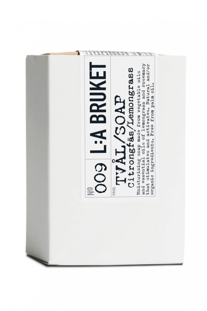 L:A BRUKET No. 009 Lemongrass Soap Bar, 120g