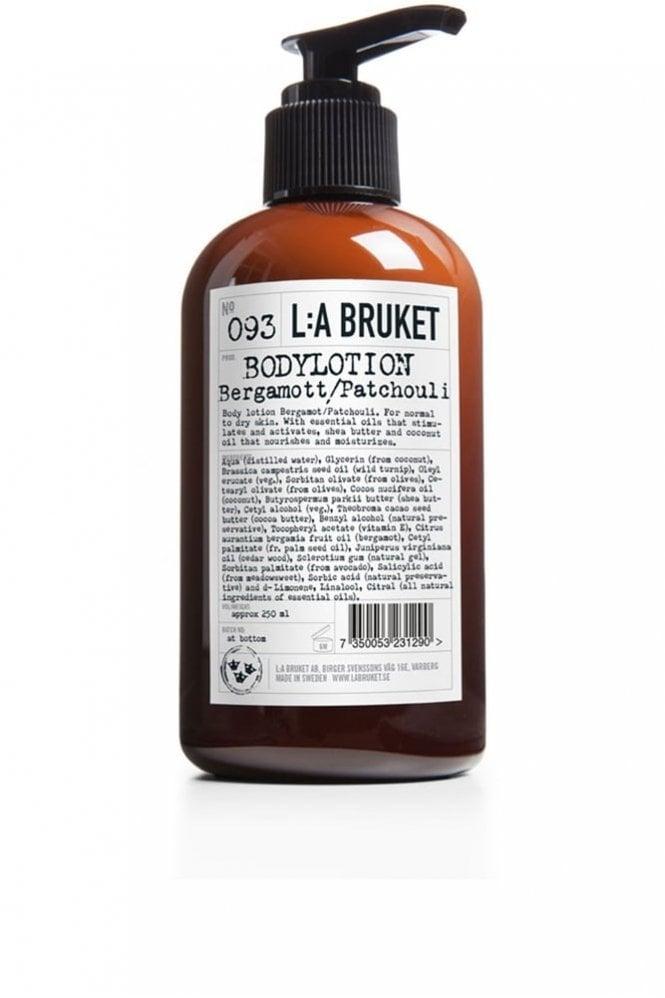 L:A BRUKET No. 093 Bergamot/Patchouli Body Lotion, 250ml
