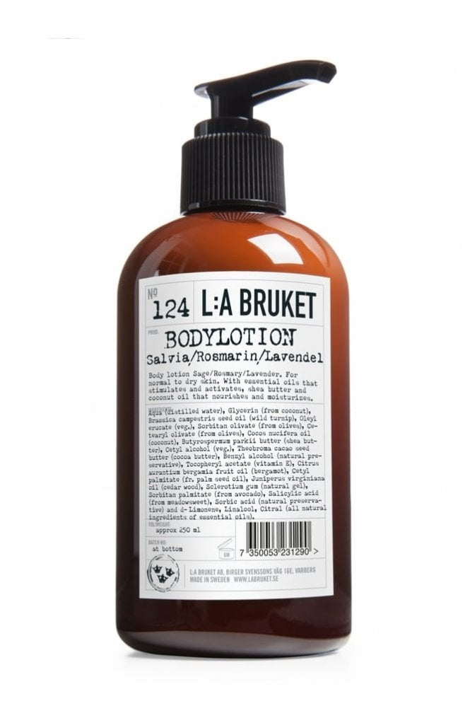 L:A BRUKET No. 124 Sage/Rosemary/Lavender Body Lotion, 250ml