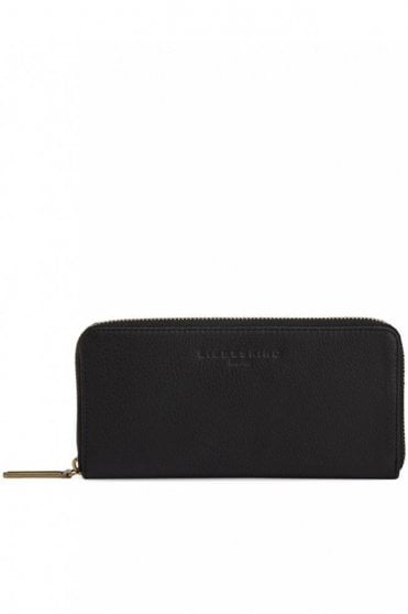 Lesley Zip Wallet in Black