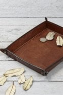 Life of Riley Leather Coin Tray