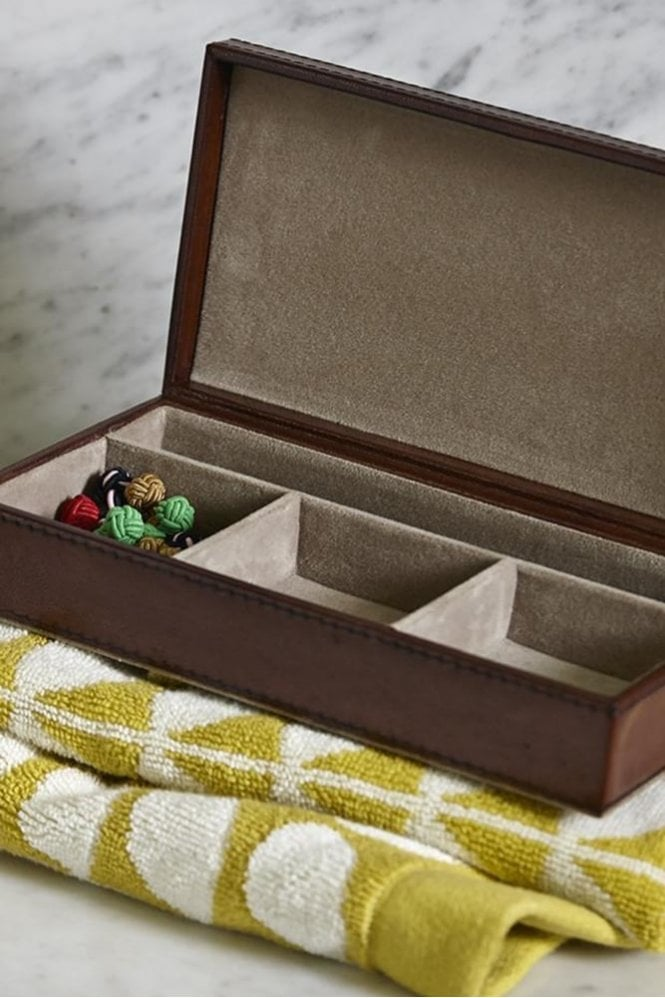 Life of Riley Leather Cufflink Box