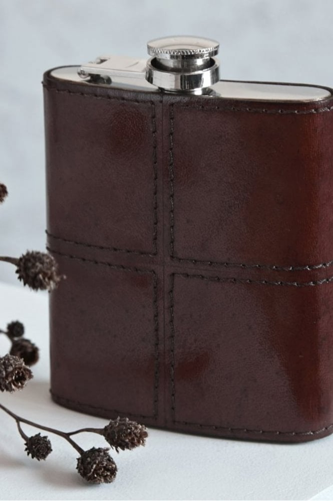 Life of Riley Leather Hip Flask
