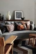 Linum Brando Cushion in Espresso Brown