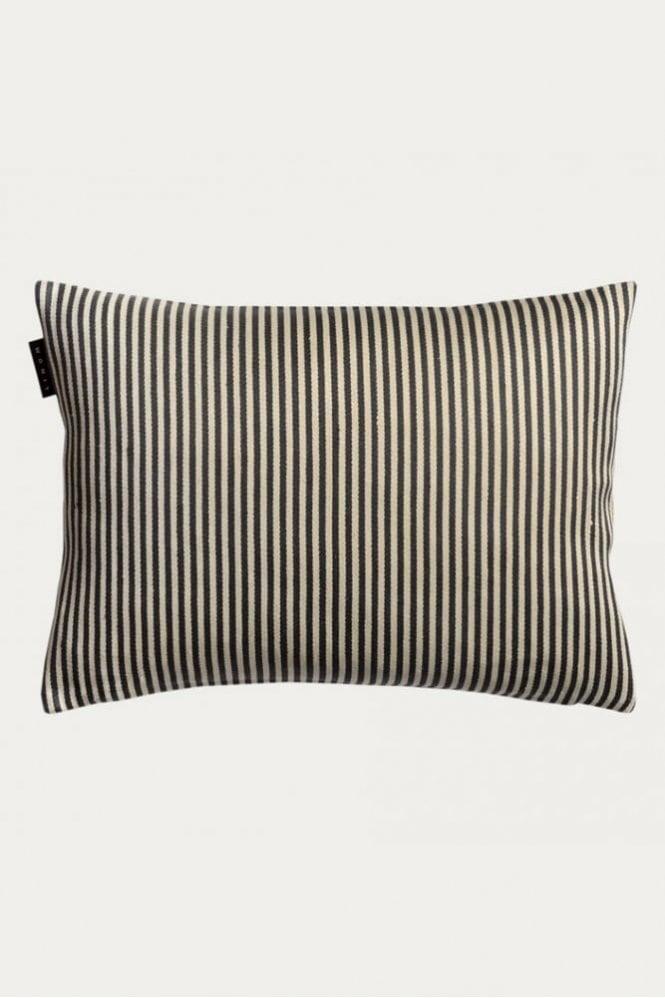 Linum Calcio Cushion in Dark Charcoal Grey