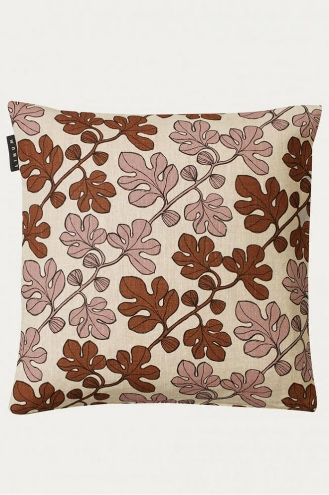 Linum Cary Cushion in Mocha Brown