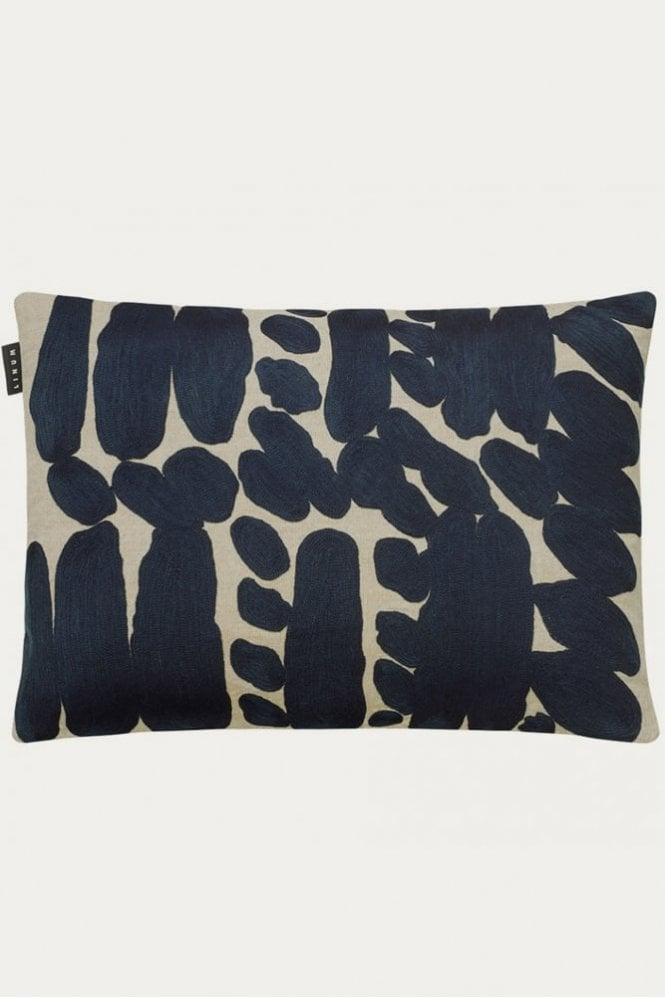 Linum Citizen Cushion in Dark Grey Blue