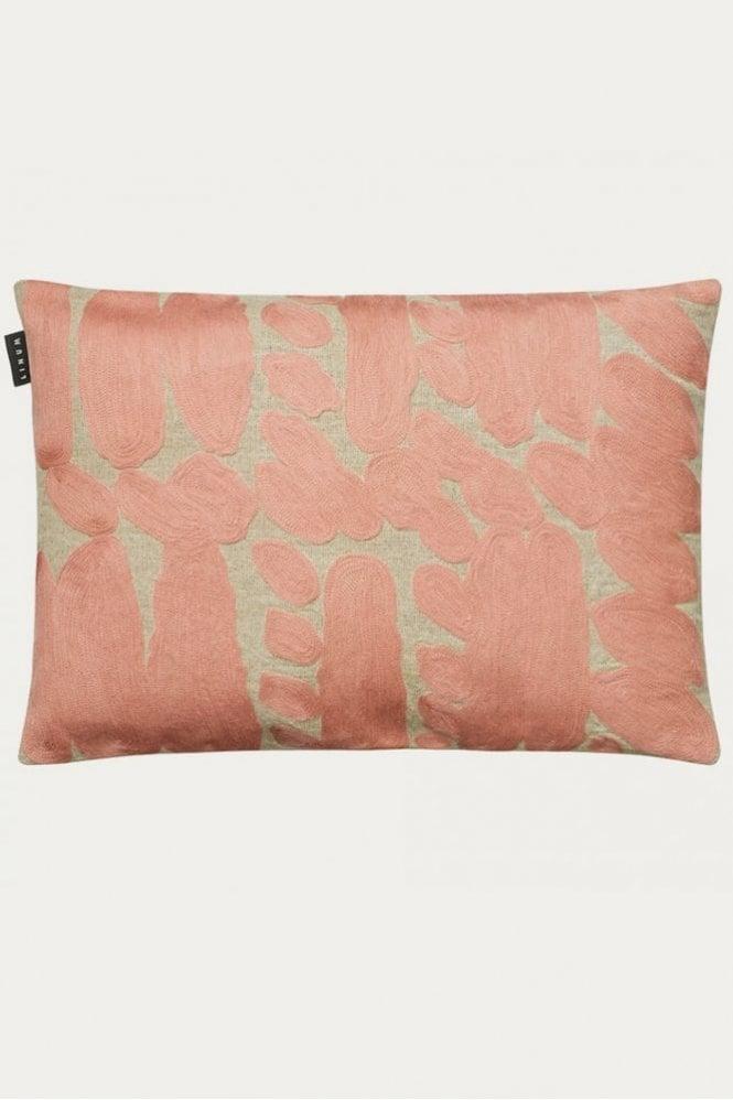 Linum Citizen Cushion in Misty Grey Pink
