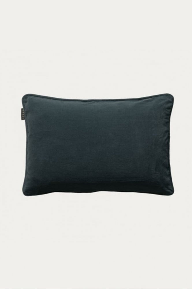 Linum Paolo Cushion in Dark Charcoal Grey