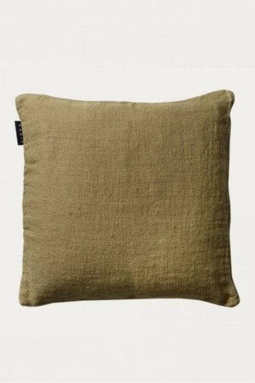 Raw Cushion in Soft Grey Green