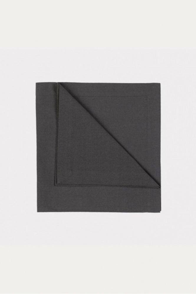 Linum Robert Napkin 4-Pack in Dark Charcoal Grey