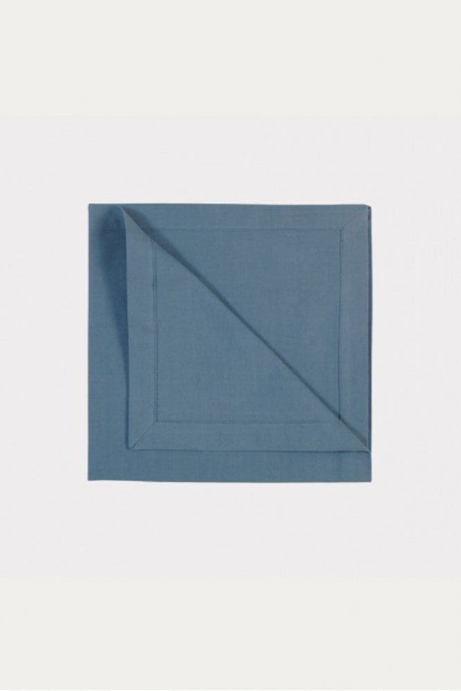 Linum Robert Napkin 4-Pack in Deep Sea Blue