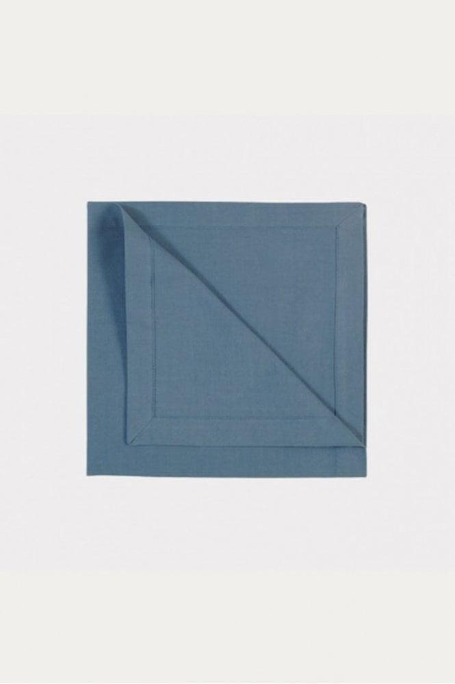 Linum Robert Napkin 4-Pack in Deep Sea Blue