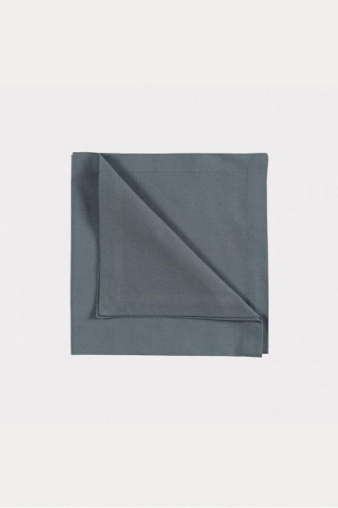 Linum Robert Napkin 4-Pack in Granite Grey