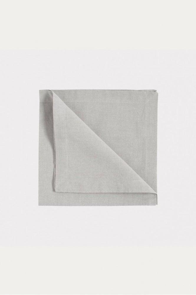 Linum Robert Napkin 4-Pack in Light Grey