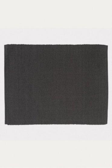 Set of 4 Gran Placemats in Dark Charcoal Grey