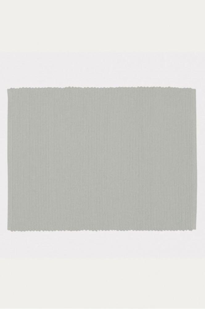 Linum Set of 4 Gran Placemats in Light Grey