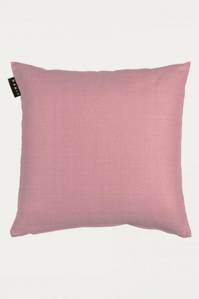Linum Seta Cushion in Dusty Pink