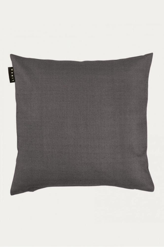 Linum Seta Cushion in Granite Grey