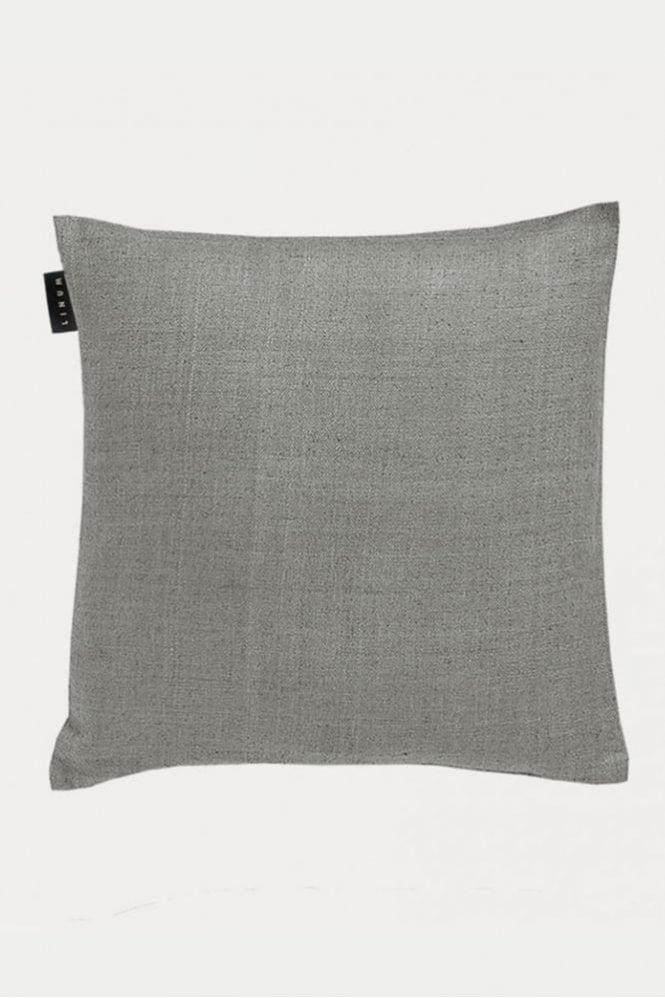 Linum Seta Cushion in Light Stone Grey