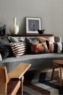 Linum Taylor Cushion in Mocha Brown