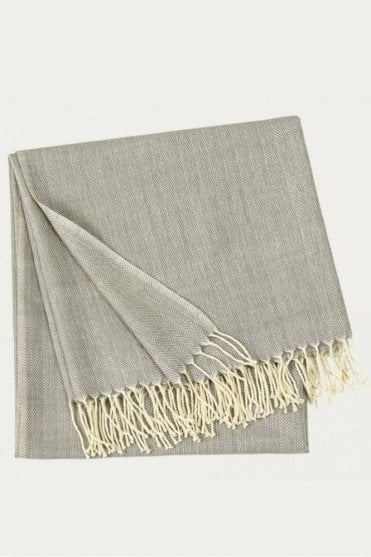 Vertigo Throw in Light Stone Grey
