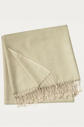 Vertigo Throw in Light Stone Khaki Green
