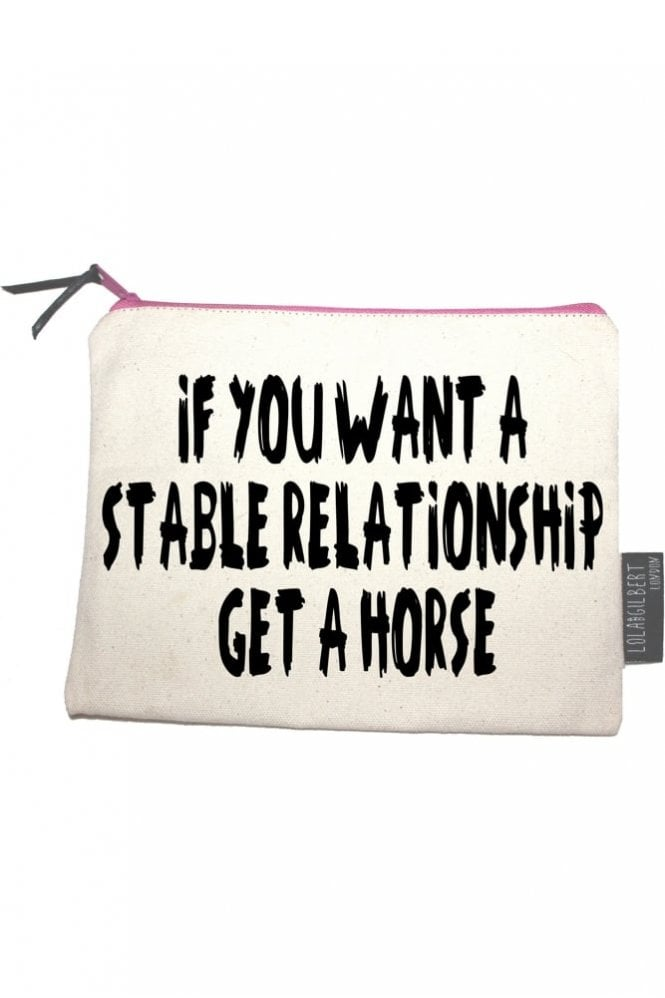 Lola and Gilbert London If You Want A Stable Relationship Get A Horse Medium Pouch