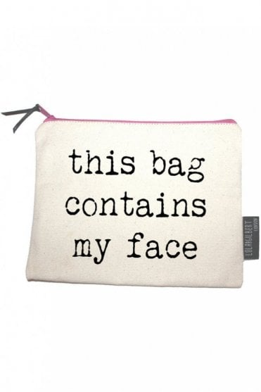 This Bag Contains My Face Medium Pouch