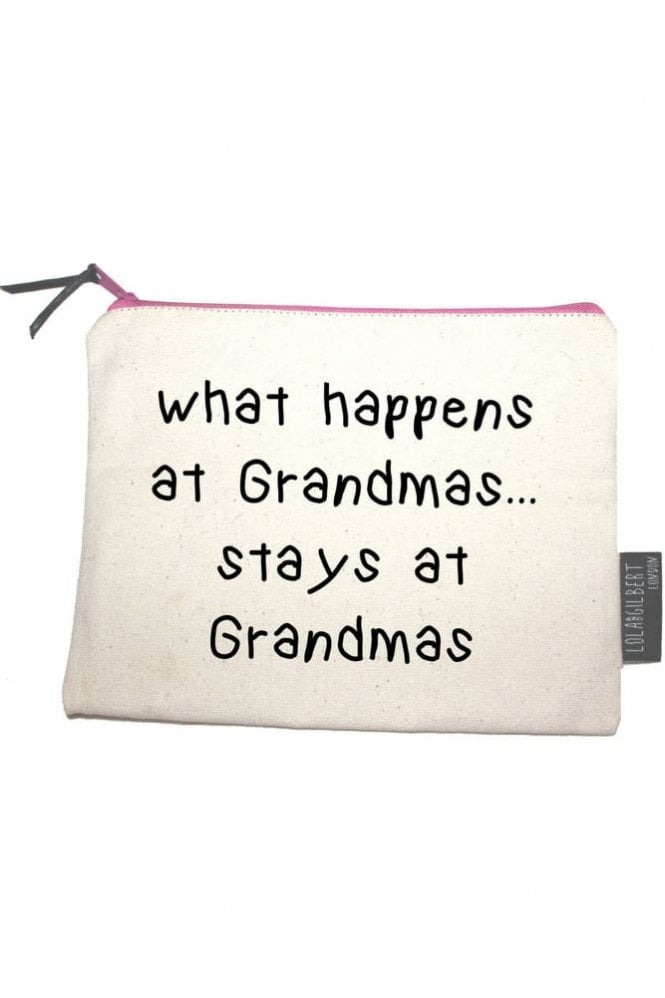 Lola and Gilbert London What Happens At Grandmas… Stays At Grandmas Medium Pouch