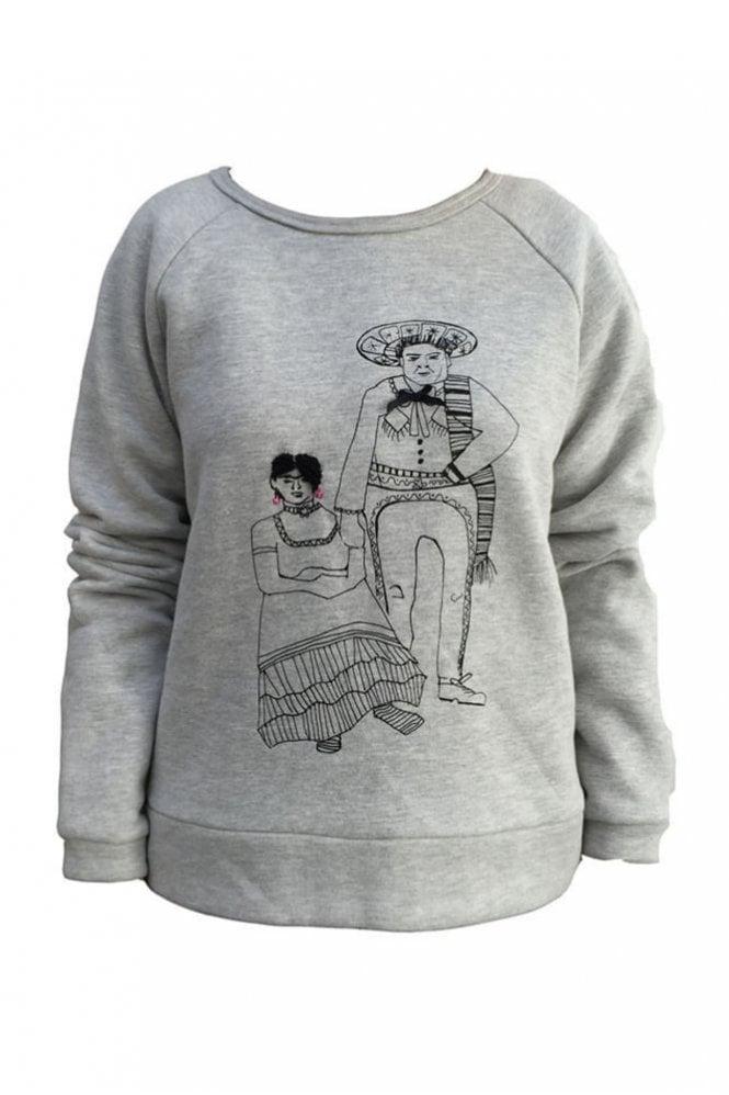 LOWIE Frida and Diago Sweatshirt in Grey