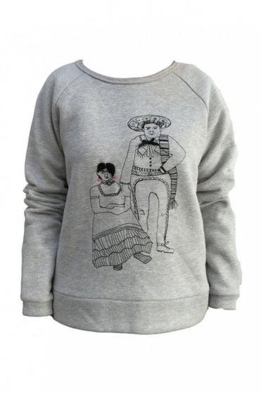 Frida and Diago Sweatshirt in Grey