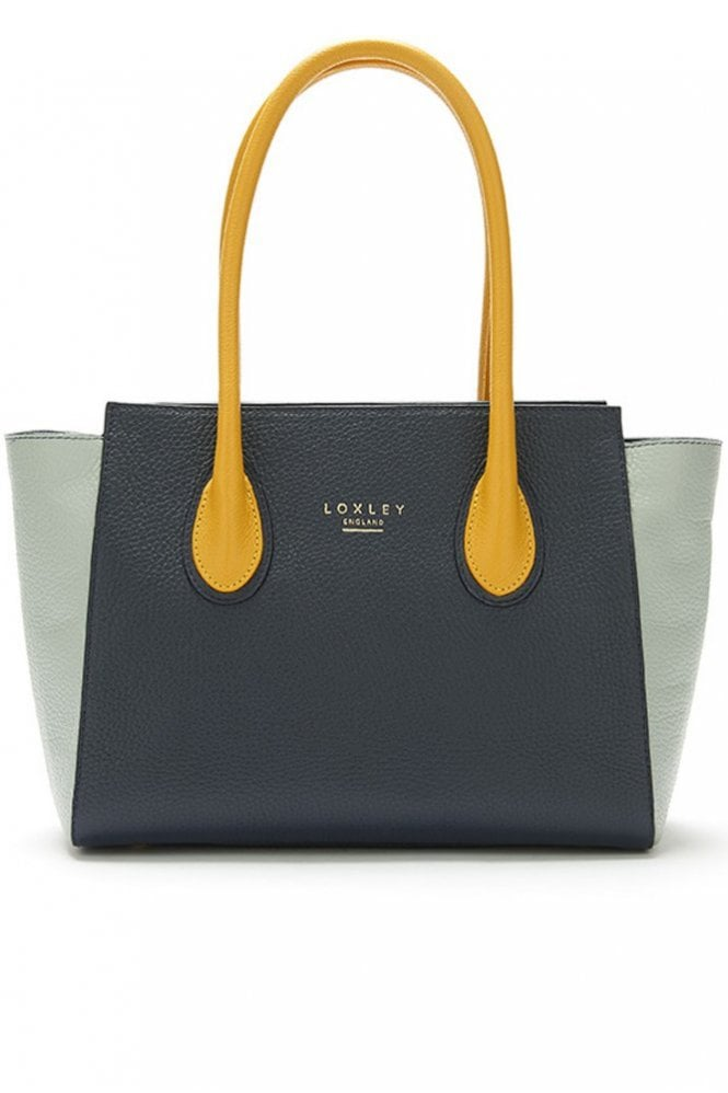 Loxley England Mini Devonshire Tote in Colour Block